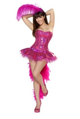 Roma Costume 3 Piece Sexy Flamingo As Shown