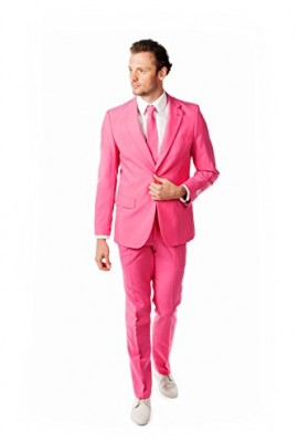OppoSuits Men's Mr. Pink Party Costume Suit