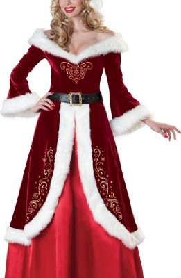 InCharacter Costumes, LLC Flocked Velvet Dress