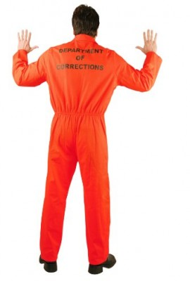 Charades Men's Bad Boy Department Of Corrections Jumpsuit