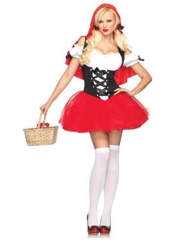 Leg Avenue Womenu0027 S Racy Red Riding Hood Tutu Peasant Dress With Attached Hooded Cape  sc 1 st  Spicy Halloween Costume Store & Leg Avenue Womenu0027 S Racy Red Riding Hood Tutu Peasant Dress With ...