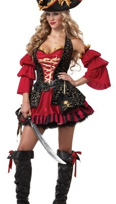 California Costumes Women's Eye Candy - Spanish Pirate Adult