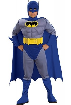 Batman Deluxe Muscle Chest Batman Child's Costume-Blue