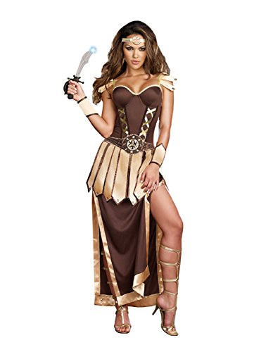 Dreamgirl Women's Sexy Gladiator, Warrior Costume, Remember The Trojans