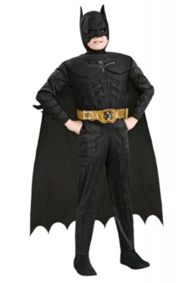 Batman Dark Knight Deluxe Muscle Chest Batman Child Costume- Black